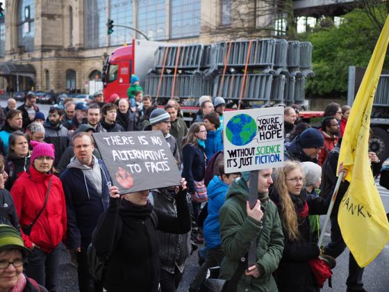 March for Science Hamburg Demonstranten Sara Wallén