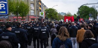 Demonstration, G20, 1.Mai, Polizei, Rote Flora