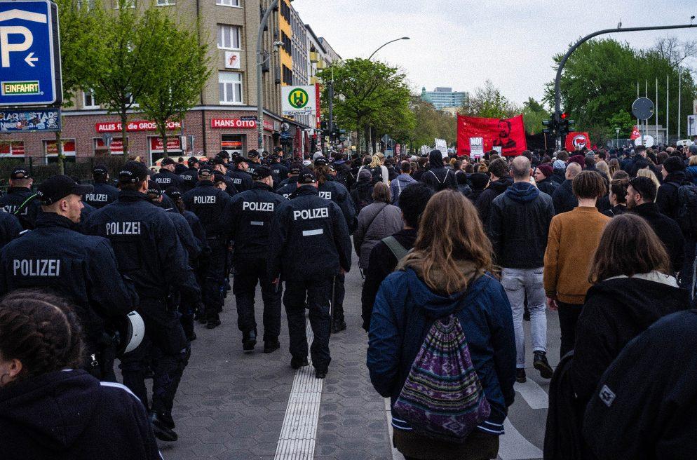 Demonstration, G20, 1.Mai, Polizei, Rote Flora