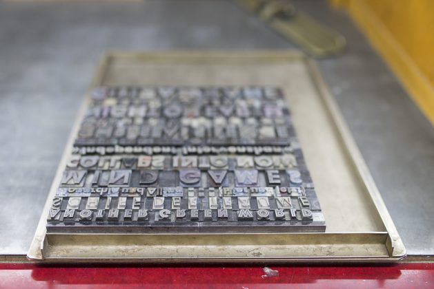 Bleisatz Typographie