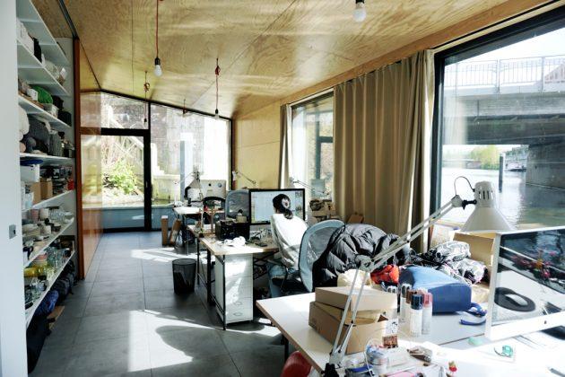 Büro von Architektin Amelie Rost am Victoriakai Ufer