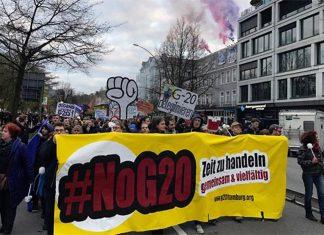 """G20-Gegner kämpfen gegen das Demonstrationsverbot. Foto: G20-Demobündnis """"Grenzenlose Solidarität statt G20"""""""