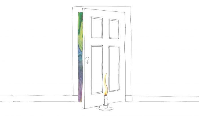 Eine Kerze vor der Tür signalisiert den Tod eines Patienten. Illustration: Lukas Schepers