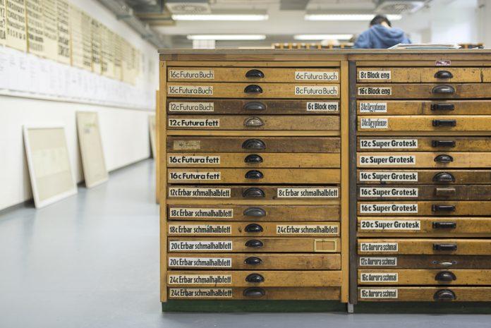 Schriften im Bleisatz Buchdruck Labor HAW Hamburg DM