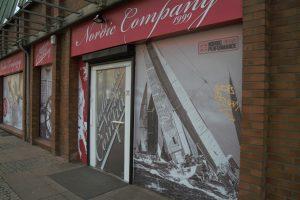 Nordic Company: Die Schaufenster sind mit blickdichter Folie beklebt.