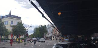 Max-Brauer-Allee wäre durch geplantes Fahrverbot betroffen. Foto: Lesley-Ann Jahn