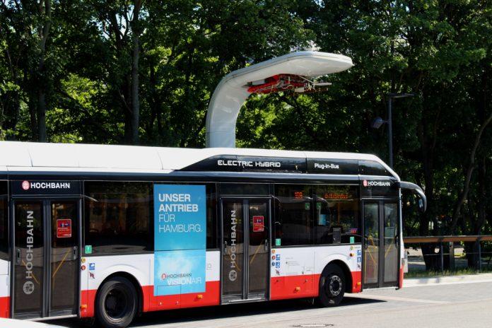 Hochbahn, Bus, Ladestation