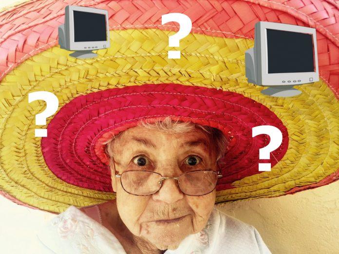Computer + Eltern = Fragezeichen. Bild: pixabay / Grafik: Johanna Röhr