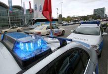 Hamburger-Polizei-Konvoi