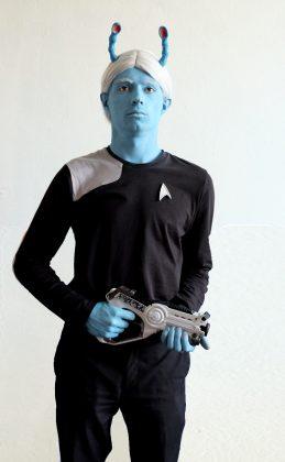 Andorianer Liberg Arual ist Kadett in der Starfleet Academy Hamburg