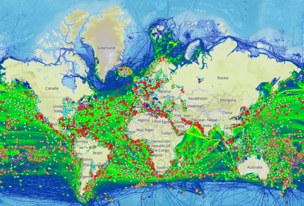 Screenshot Marine Traffic
