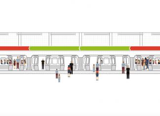 So soll die Platzampel an U-Bahn-Stationen aussehen. Grafik: Hochbahn via YouTube.