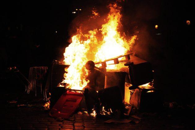 """""""Welcome to Hell""""-Demo am Fischmarkt. Foto: Dominik Schacht."""