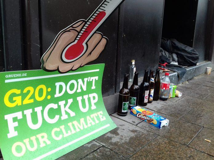 G20-Protest auf dem Hamburger Rathausmarkt. Foto: Mats Mumme