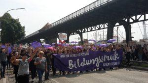 Bildungsstreik Landungsbrücke