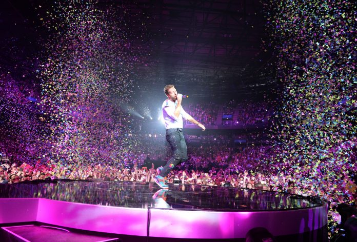 Coldplay live beim Global Citizen Festival. Foto: Daniel Reinhardt/dpa