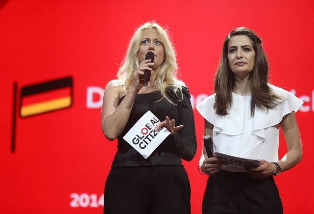 Global Citizen Festival in der Barclaycard Arena. Foto: Georg Wendt/dpa.