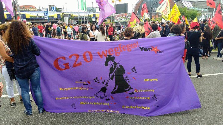 """""""Grenzenlose Solidarität statt G20"""". Foto: Robert Bauguitte."""