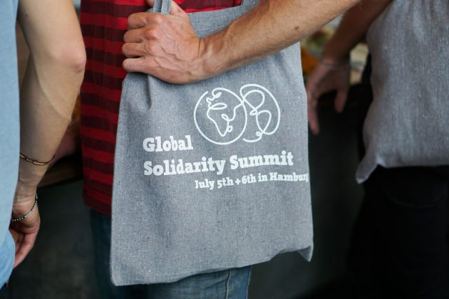 G20 Hamburg 05072017 solidarity summit Gipfel für globale Solidarität Kampnagel Beutel