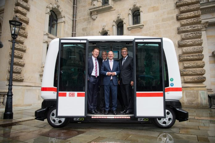 Die Stadt Hamburg hat eine Partnerschaft mit der Deutschen Bahn zum Thema
