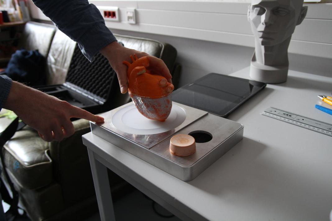 "Das 3D-Modell ""Rotation"". Foto: Harriet Dohmeyer"