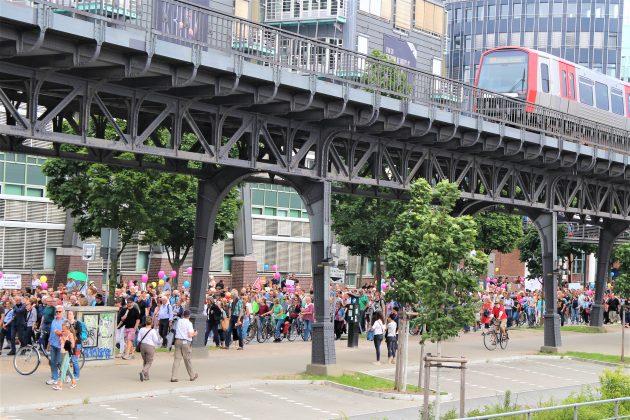 Demonstration Hamburg zeigt Haltung