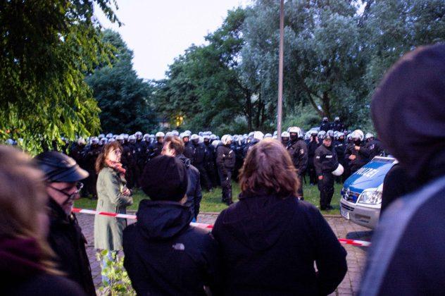 Antikapitalistisches Protestcamp Elbpark Entenwerder