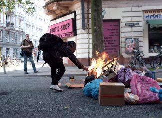 Reeperbahn Randale G20 Vermummte Personen