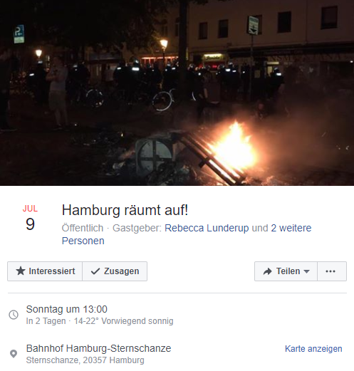 Screenshot Hamburg räumt auf!/Facebook