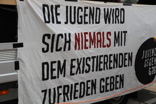 """Bildungsstreik - """"Jugend gegen G20"""". Foto: Agata Strausa."""