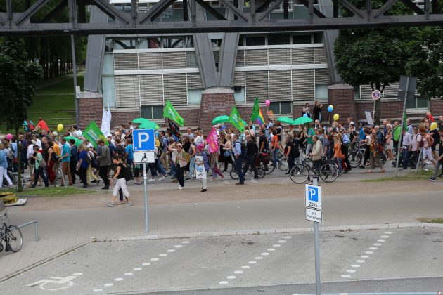 """""""Hamburg zeigt Haltung"""". Foto: Agata Strausa."""