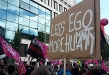 """Gesehen bei: """"G20-Protestwelle"""" am Sonntag (2. Juli). Foto: Martin Tege"""
