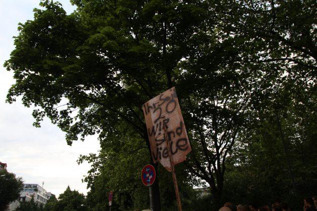 """Partyprotest bei """"Lieber tanz' ich als G20"""". Foto: Johanna Röhr."""