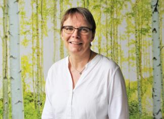 Spitzenkandidatin Anja Hajduk in der Landesgeschäftsstelle der Grünen in Hamburg. Foto: Julian Kornacker