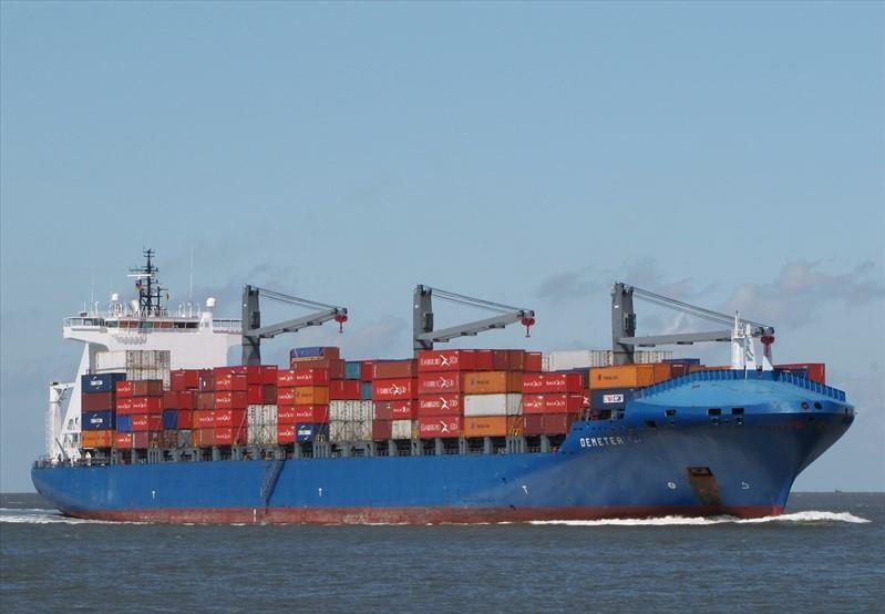 """Das Containerschiff """"Demeter"""" der Reederei Peter Döhle wurde von Piraten vor Nigeria angegriffen."""