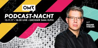 Die Premiere der Podcast-Nacht am 15.11.17 in der Elphilharmonie. Foto: OMR