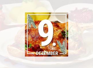 Es muss nicht immer Gans sein. Auch eine knusprige Weihnachtsente eignet sich perfekt als Festmahl. Foto: Pixabay, Grafik: Laura Lagershausen