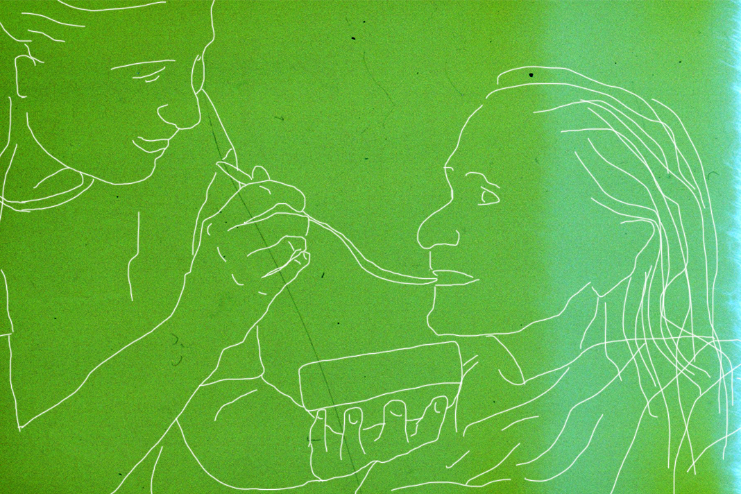 Pflege zu Hause. Illustration: Lukas Schepers