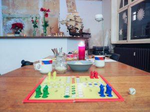 Spielbrett des Ledigenheims