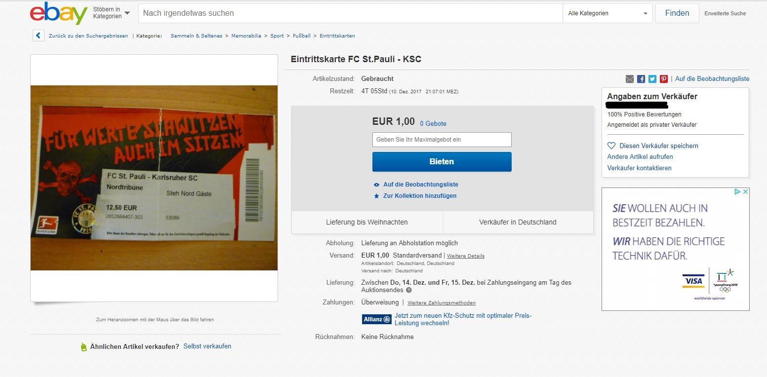 Auch mit den beim Online-Versandhaus eBay ersteigerten Karten soll der Zutritt verweigert werden.
