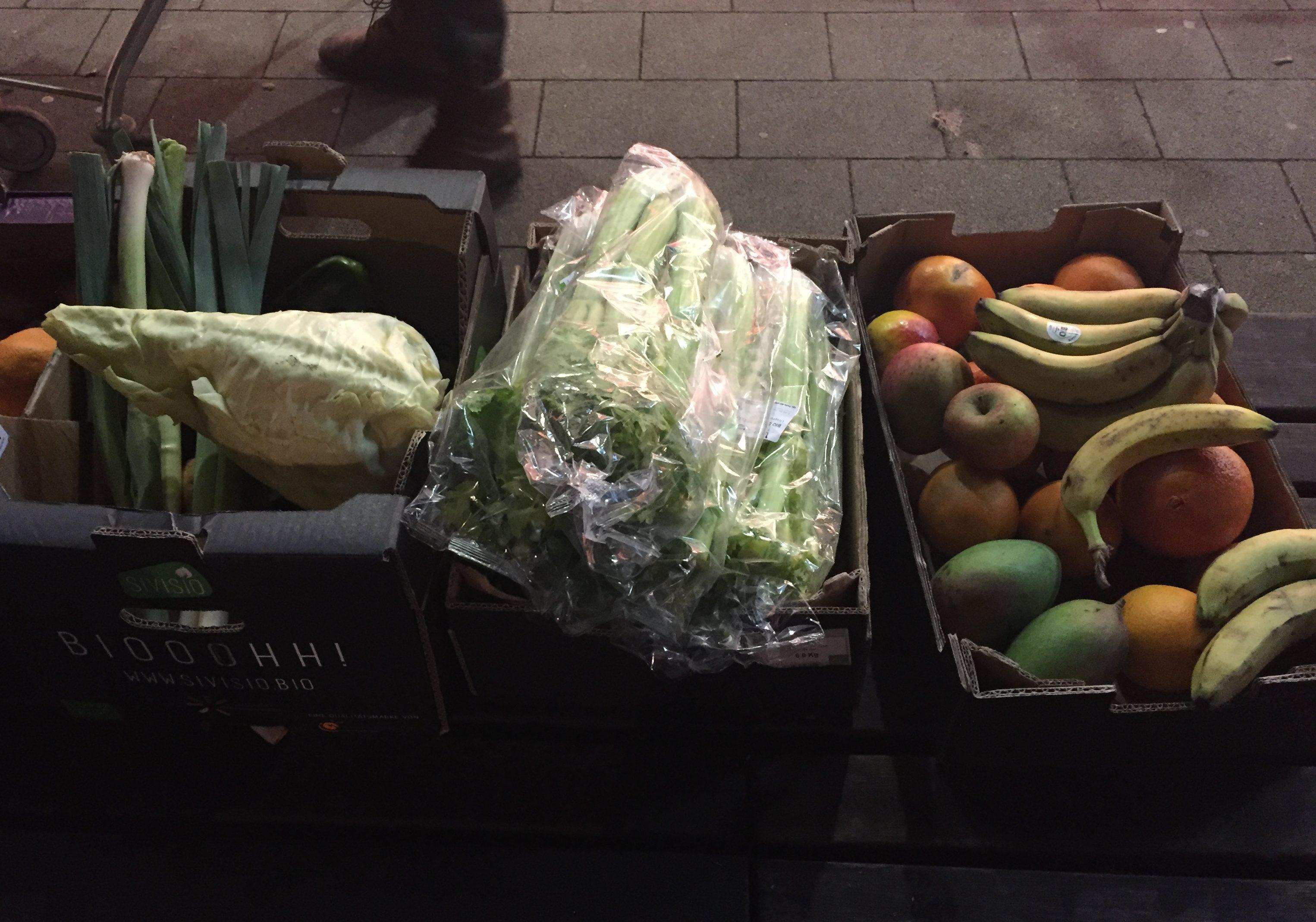 Lebensmittel zum Verschenken