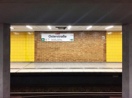 Hamburger-U-Bahnstationen-Osterstraße-U-Bahn-Memories