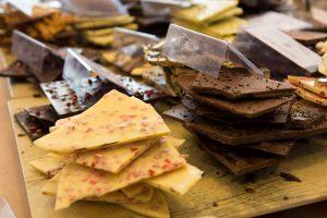 Schokoladen-Auslagen