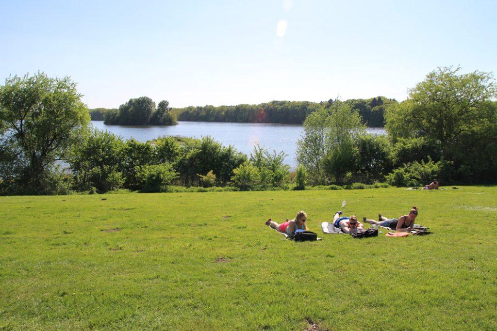 Ein ruhiges Plätzchen: Öjendorfer Park.