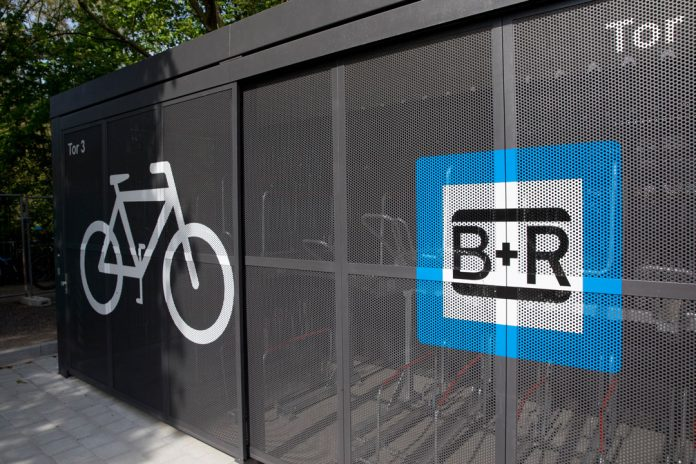 Bike+Ride Station Hoheluftbrücke