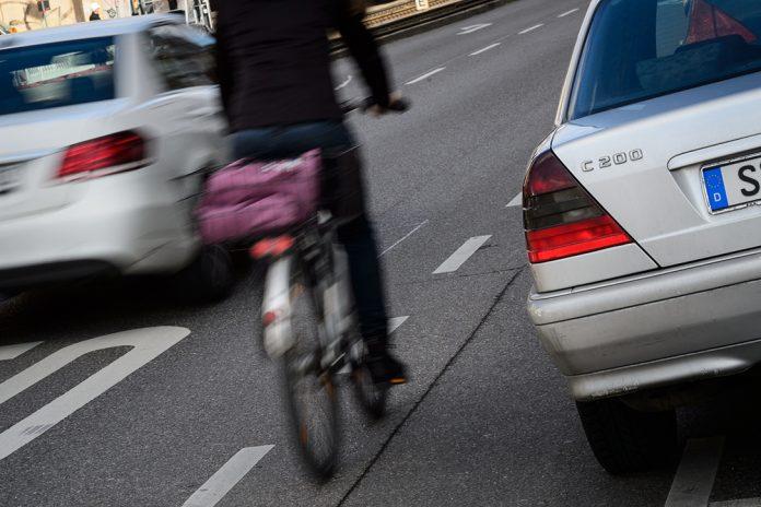 Radfahrer leben in Hamburg gefährlich.