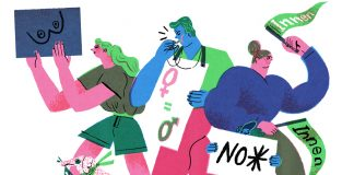Illustration Marlene Hacker, Gendern