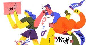 Gegen Gendern. Illustration von Marlen Hacker , Gendern