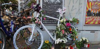 Gedenken an das Unfallopfer von Eimsbüttel