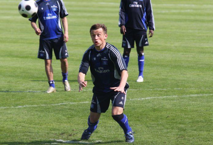 Ivica Olic beim HSV-Training - auch er ist im Hamburger WM-Kader